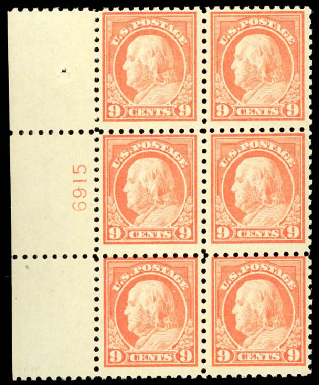 Costs of US Stamp Scott # 471: 1916 9c Franklin Perf 10. Daniel Kelleher Auctions, Aug 2015, Sale 672, Lot 2752