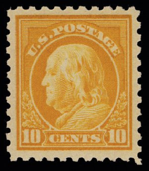 Prices of US Stamps Scott Catalog # 472: 10c 1916 Franklin Perf 10. H.R. Harmer, May 2014, Sale 3005, Lot 1288