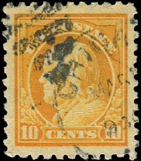 US Stamp Values Scott #472 - 10c 1916 Franklin Perf 10. Regency-Superior, Aug 2015, Sale 112, Lot 869
