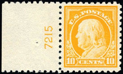 Costs of US Stamps Scott Catalogue 472: 10c 1916 Franklin Perf 10. Schuyler J. Rumsey Philatelic Auctions, Apr 2015, Sale 60, Lot 2829