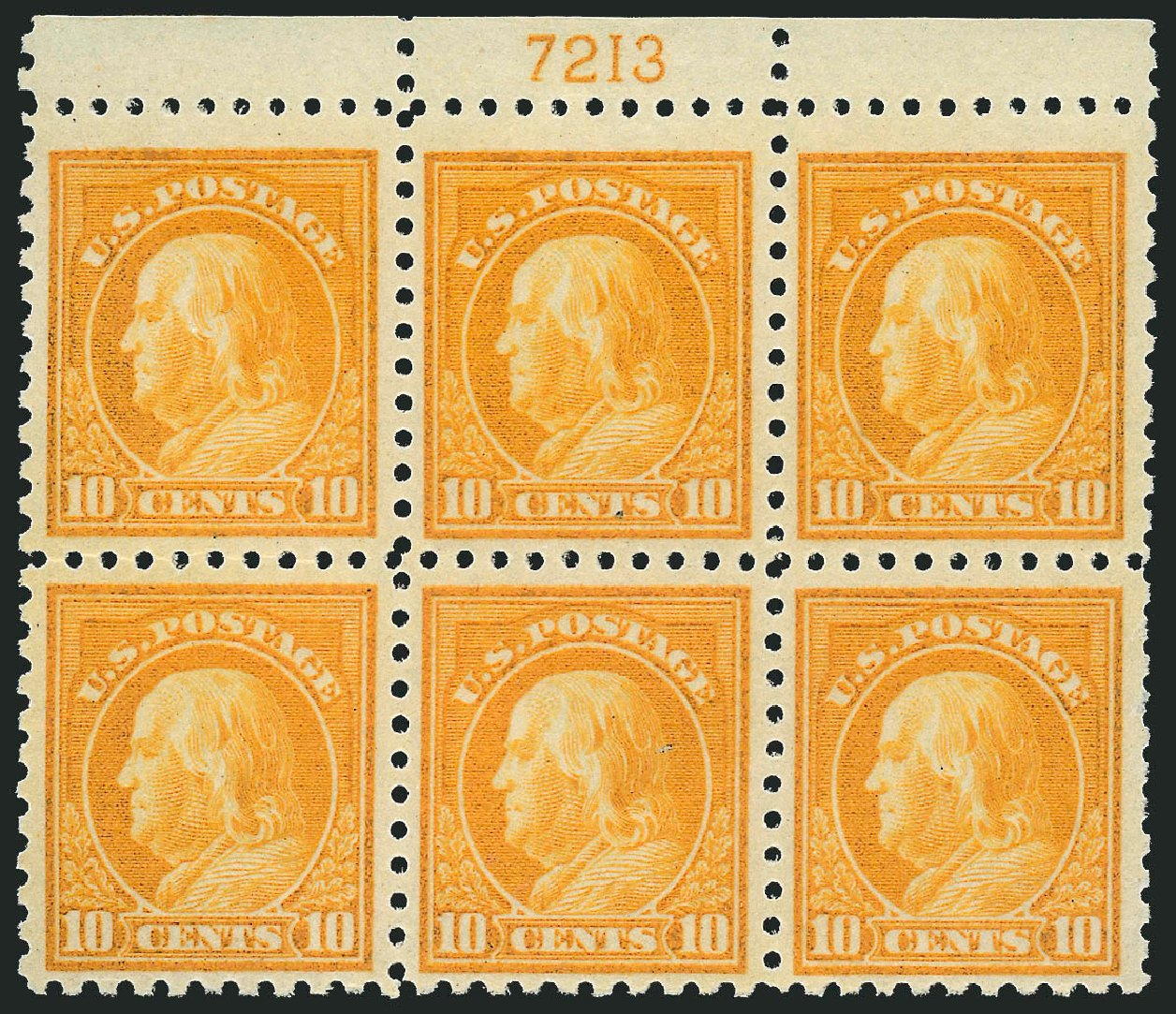 US Stamps Price Scott Cat. 472 - 10c 1916 Franklin Perf 10. Robert Siegel Auction Galleries, Sep 2014, Sale 1078, Lot 549