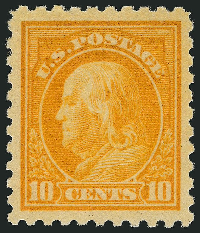 Cost of US Stamps Scott #472: 10c 1916 Franklin Perf 10. Robert Siegel Auction Galleries, Feb 2015, Sale 1093, Lot 399