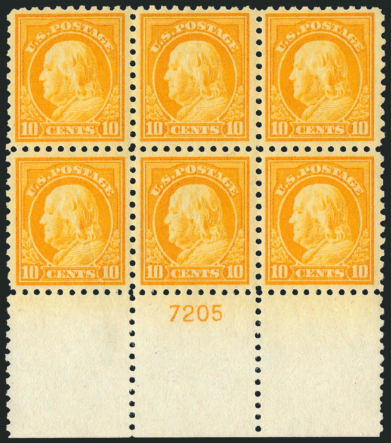 Value of US Stamps Scott Catalogue 472: 1916 10c Franklin Perf 10. Robert Siegel Auction Galleries, Feb 2015, Sale 1093, Lot 400