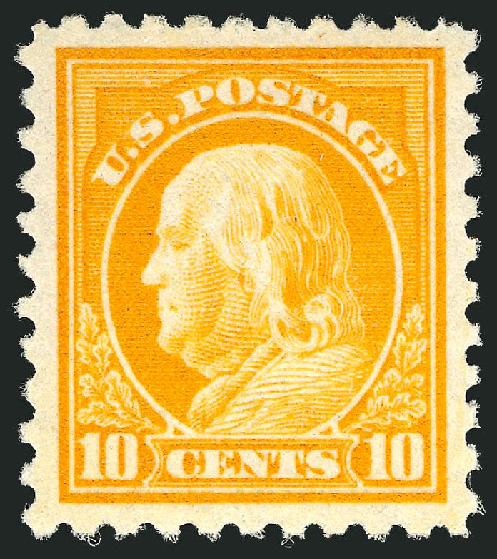 US Stamps Price Scott # 472 - 10c 1916 Franklin Perf 10. Robert Siegel Auction Galleries, Apr 2014, Sale 1068, Lot 281