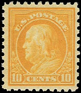 US Stamp Prices Scott # 472 - 1916 10c Franklin Perf 10. Regency-Superior, Nov 2014, Sale 108, Lot 882