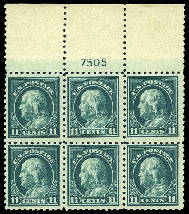 US Stamp Value Scott Cat. #473 - 11c 1916 Franklin Perf 10. Matthew Bennett International, May 2014, Sale 350, Lot 620