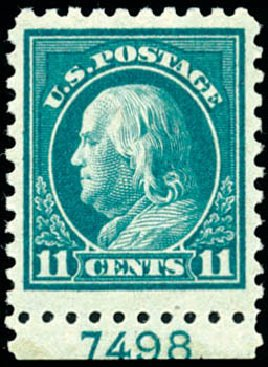 Price of US Stamp Scott Catalogue #473: 1916 11c Franklin Perf 10. Schuyler J. Rumsey Philatelic Auctions, Apr 2015, Sale 60, Lot 2830
