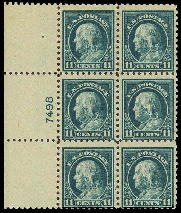 US Stamps Value Scott # 473 - 1916 11c Franklin Perf 10. Daniel Kelleher Auctions, Aug 2012, Sale 631, Lot 1231
