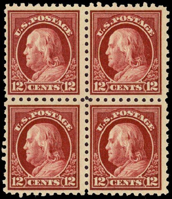 Cost of US Stamps Scott Catalog #474 - 12c 1916 Franklin Perf 10. Daniel Kelleher Auctions, Jan 2015, Sale 663, Lot 1820