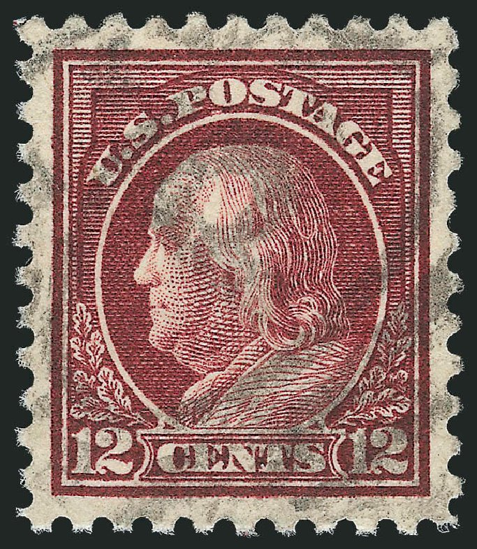 Cost of US Stamps Scott # 474 - 12c 1916 Franklin Perf 10. Robert Siegel Auction Galleries, Oct 2012, Sale 1032, Lot 3570