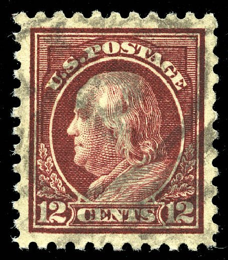 US Stamp Prices Scott Catalogue 474 - 12c 1916 Franklin Perf 10. Matthew Bennett International, May 2014, Sale 350, Lot 621