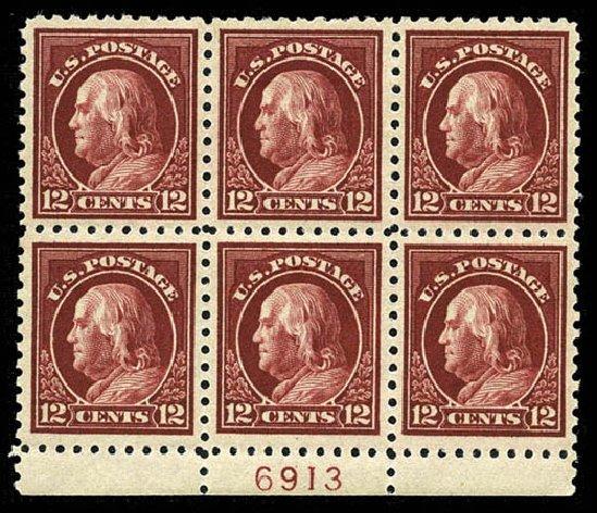 US Stamps Price Scott Cat. #474 - 12c 1916 Franklin Perf 10. Matthew Bennett International, Mar 2012, Sale 344, Lot 4614