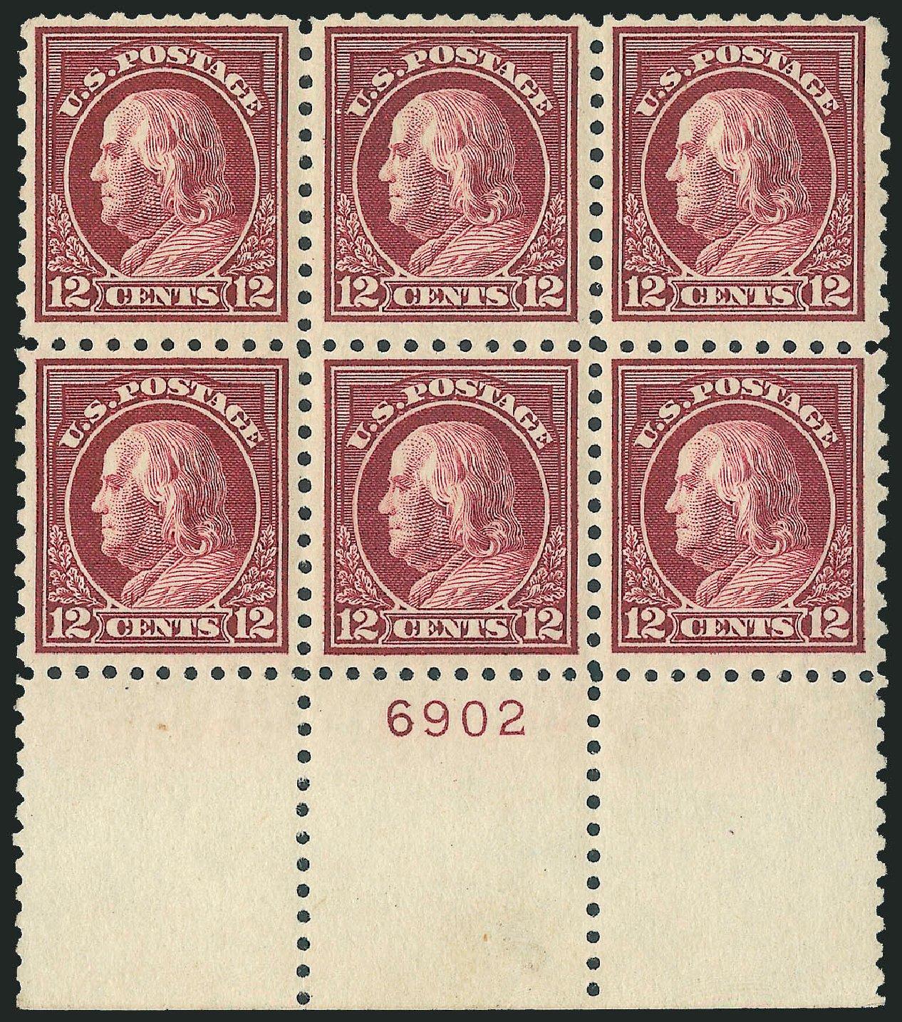 US Stamp Prices Scott Catalog # 474 - 12c 1916 Franklin Perf 10. Robert Siegel Auction Galleries, Mar 2013, Sale 1040, Lot 1855