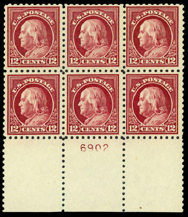Costs of US Stamp Scott #474 - 1916 12c Franklin Perf 10. Daniel Kelleher Auctions, Sep 2013, Sale 639, Lot 3592
