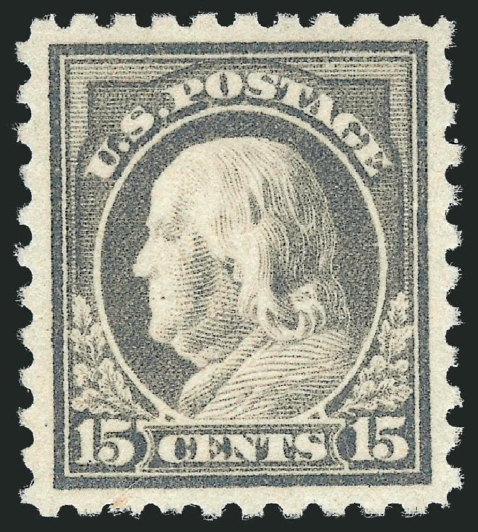 Prices of US Stamp Scott Cat. 475: 1916 15c Franklin Perf 10. Robert Siegel Auction Galleries, Jul 2014, Sale 1077, Lot 288