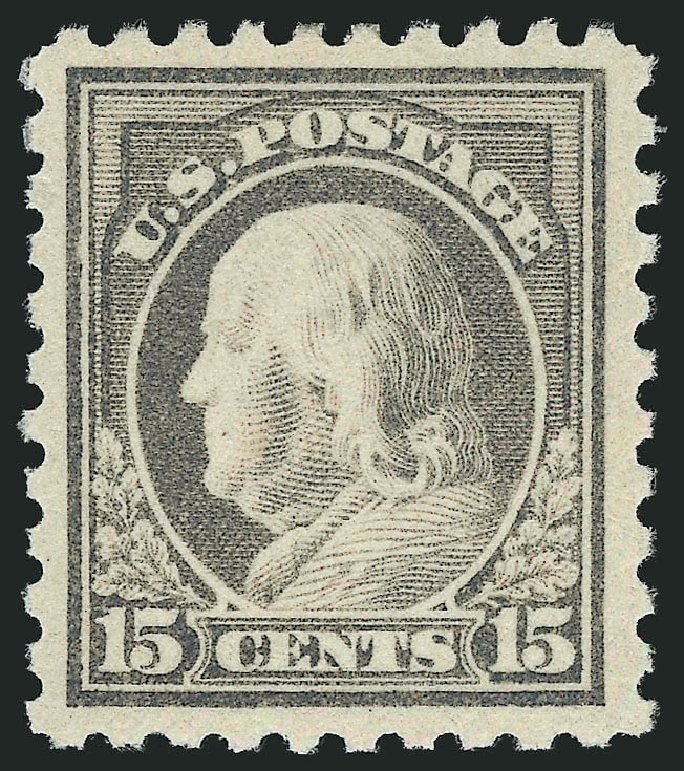 Values of US Stamps Scott # 475 - 1916 15c Franklin Perf 10. Robert Siegel Auction Galleries, Jul 2013, Sale 1050, Lot 589