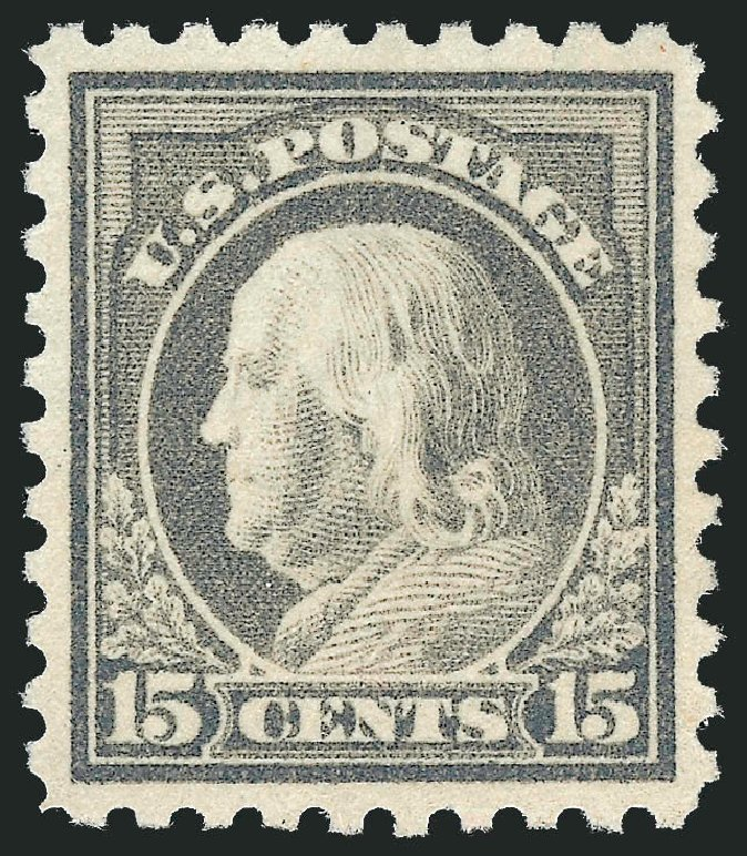 Prices of US Stamp Scott Catalogue 475: 1916 15c Franklin Perf 10. Robert Siegel Auction Galleries, Mar 2014, Sale 1067, Lot 1559