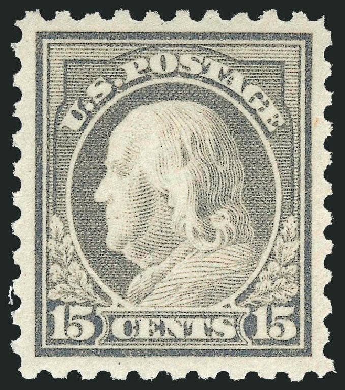 US Stamp Prices Scott Cat. #475 - 15c 1916 Franklin Perf 10. Robert Siegel Auction Galleries, Jul 2014, Sale 1077, Lot 289