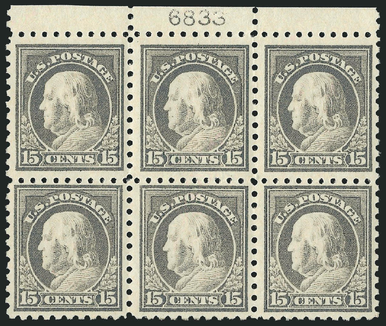 Value of US Stamps Scott Catalogue # 475: 15c 1916 Franklin Perf 10. Robert Siegel Auction Galleries, Dec 2014, Sale 1090, Lot 1539