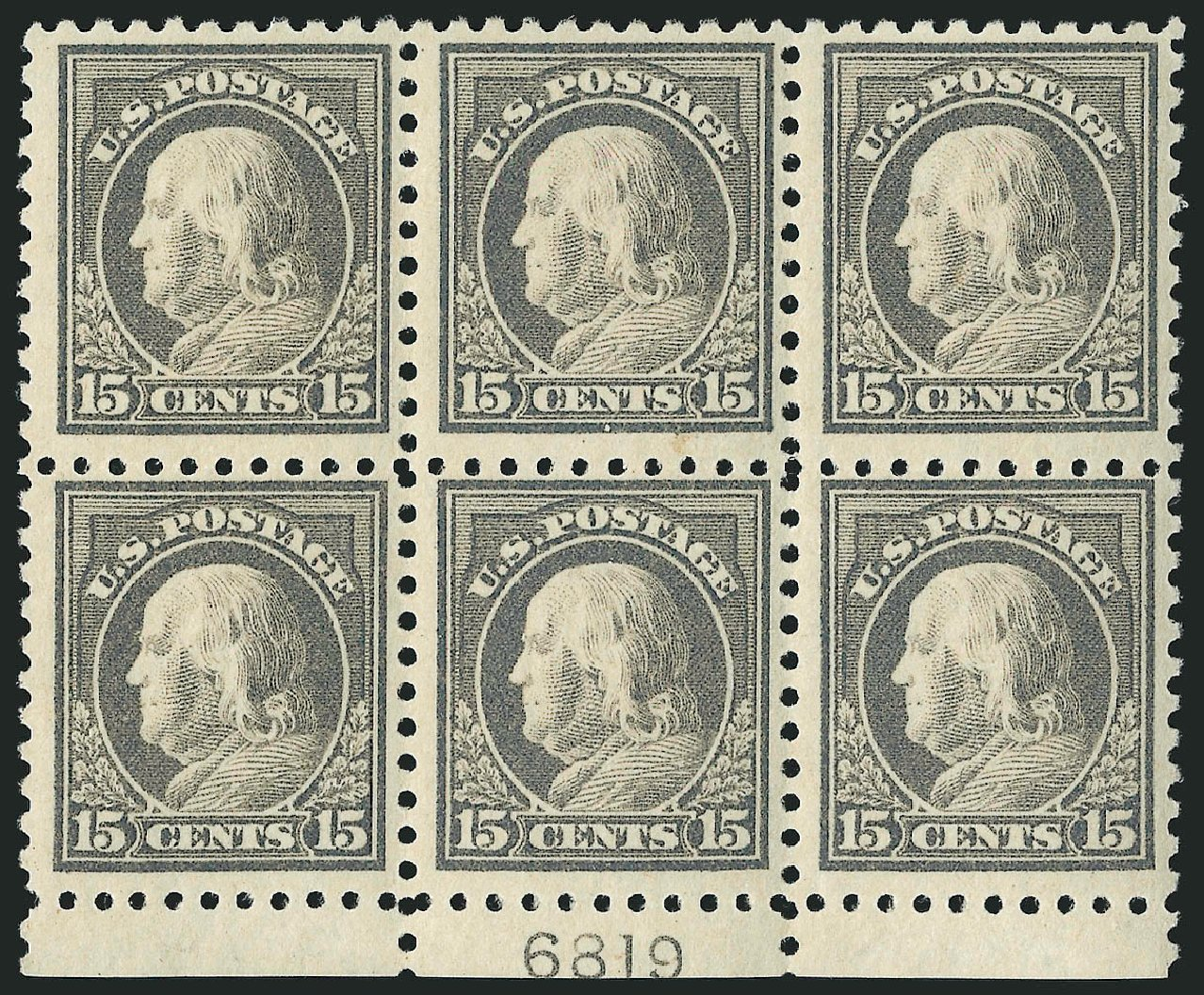 Cost of US Stamp Scott 475: 1916 15c Franklin Perf 10. Robert Siegel Auction Galleries, Apr 2015, Sale 1096, Lot 720