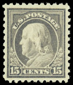 US Stamp Prices Scott Catalog #475 - 1916 15c Franklin Perf 10. Daniel Kelleher Auctions, Mar 2014, Sale 648, Lot 2181