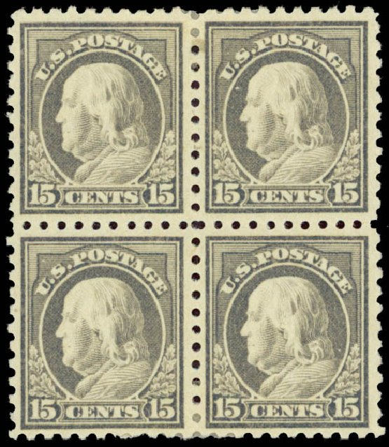Cost of US Stamps Scott Catalog #475: 15c 1916 Franklin Perf 10. Daniel Kelleher Auctions, Jan 2015, Sale 663, Lot 1821