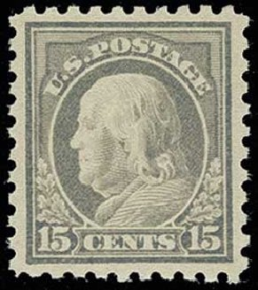 Prices of US Stamp Scott Catalogue #475 - 1916 15c Franklin Perf 10. H.R. Harmer, Jun 2013, Sale 3003, Lot 1335