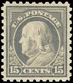 US Stamp Value Scott Cat. # 475 - 1916 15c Franklin Perf 10. Regency-Superior, Nov 2014, Sale 108, Lot 883