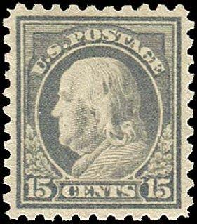 US Stamp Value Scott Cat. # 475 - 1916 15c Franklin Perf 10. Regency-Superior, Nov 2014, Sale 108, Lot 883