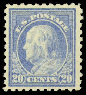 Costs of US Stamps Scott Catalog # 476: 1916 20c Franklin Perf 10. Daniel Kelleher Auctions, Dec 2014, Sale 661, Lot 387