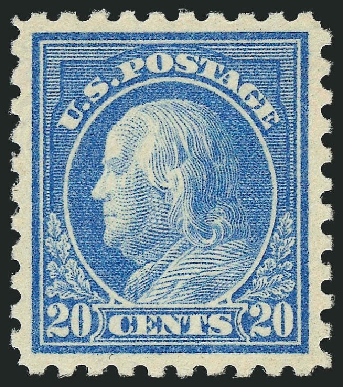 US Stamp Value Scott Catalog #476 - 1916 20c Franklin Perf 10. Robert Siegel Auction Galleries, Dec 2014, Sale 1090, Lot 1540