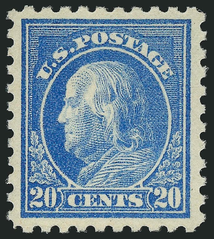 Value of US Stamps Scott Cat. 476 - 1916 20c Franklin Perf 10. Robert Siegel Auction Galleries, Feb 2015, Sale 1092, Lot 1341