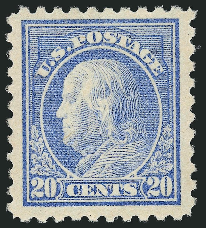 US Stamp Prices Scott Catalog # 476 - 1916 20c Franklin Perf 10. Robert Siegel Auction Galleries, Apr 2015, Sale 1096, Lot 721