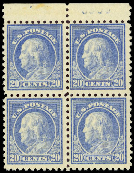 US Stamps Price Scott Catalogue # 476: 20c 1916 Franklin Perf 10. Daniel Kelleher Auctions, Jan 2015, Sale 663, Lot 1822