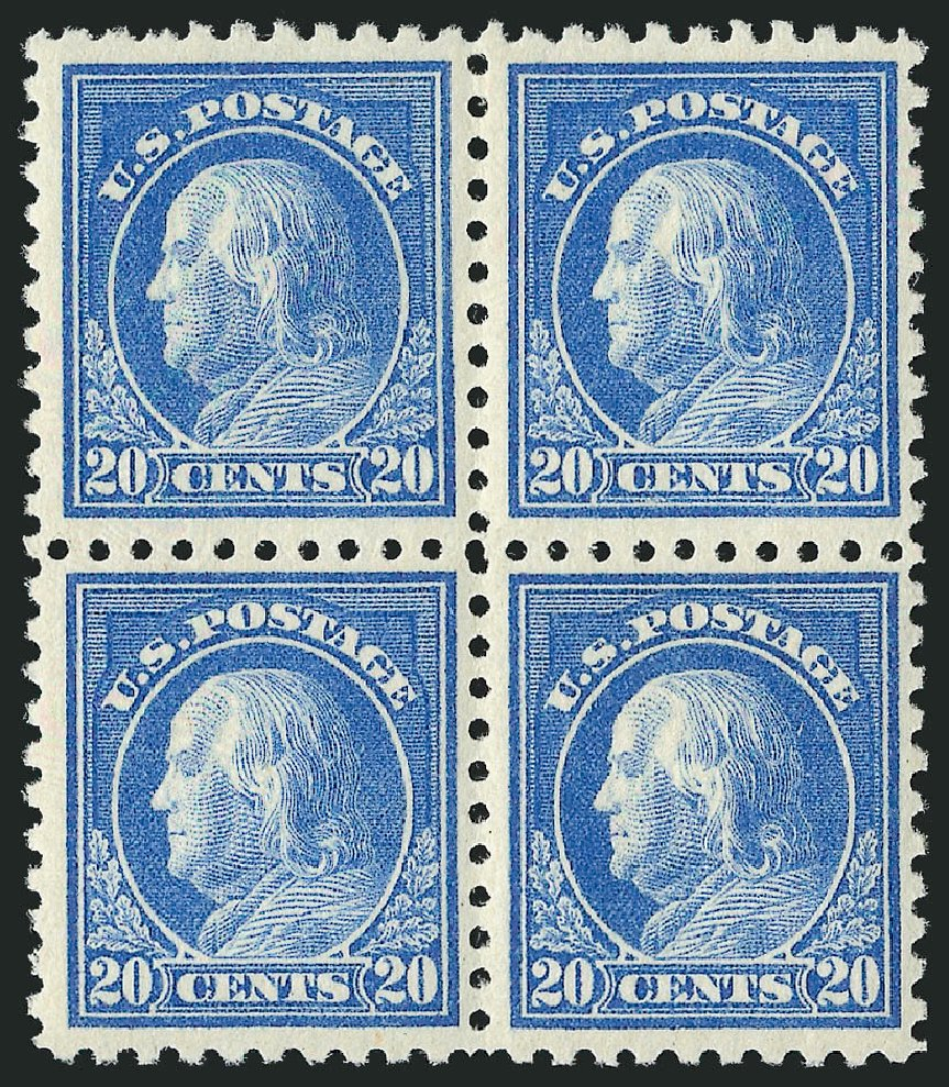 US Stamp Value Scott Catalogue #476: 20c 1916 Franklin Perf 10. Robert Siegel Auction Galleries, Apr 2015, Sale 1096, Lot 722