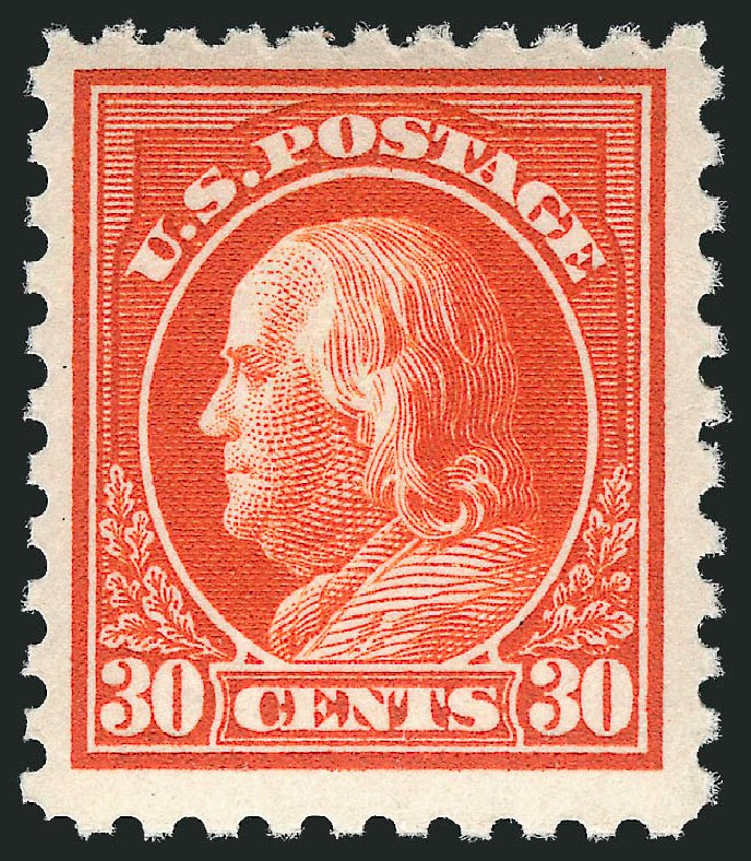 Value of US Stamps Scott Cat. 476A - 1916 30c Franklin Perf 10. Robert Siegel Auction Galleries, May 2013, Sale 1044, Lot 292