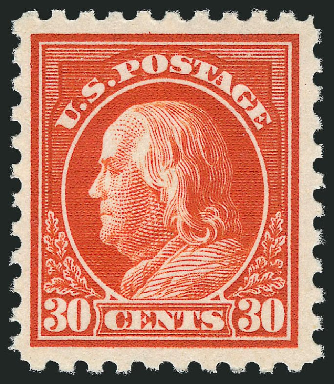 Cost of US Stamps Scott Catalogue #476A: 1916 30c Franklin Perf 10. Robert Siegel Auction Galleries, Nov 2013, Sale 1061, Lot 3953