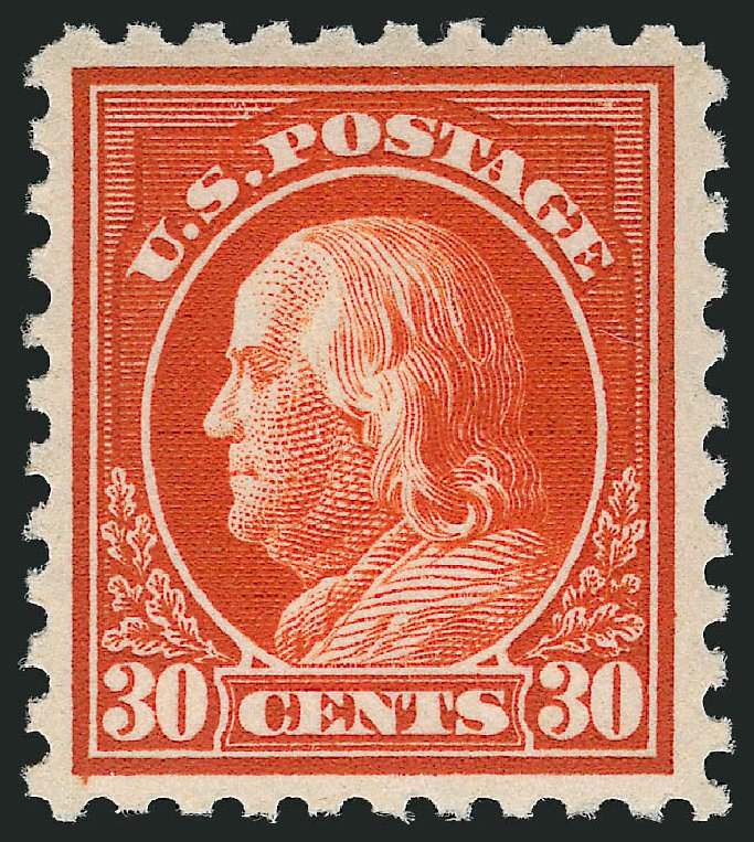 US Stamp Values Scott Catalogue 476A - 30c 1916 Franklin Perf 10. Robert Siegel Auction Galleries, Feb 2015, Sale 1093, Lot 406