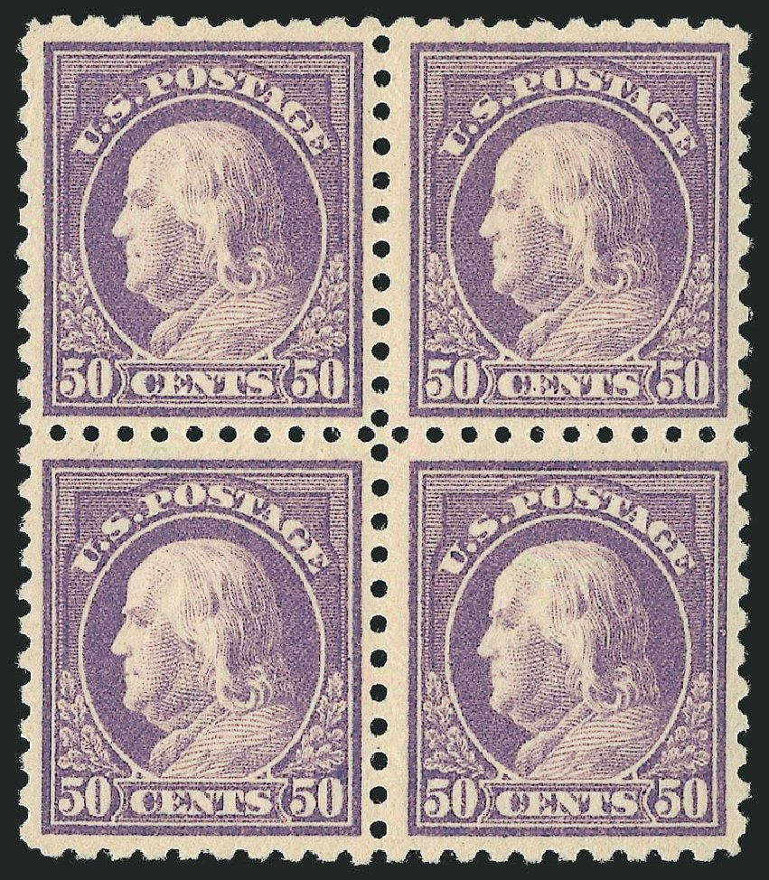 Cost of US Stamps Scott #477: 1917 50c Franklin Perf 10. Robert Siegel Auction Galleries, Apr 2015, Sale 1096, Lot 727