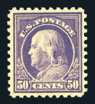 Prices of US Stamp Scott Catalog # 477 - 50c 1917 Franklin Perf 10. Harmer-Schau Auction Galleries, Aug 2015, Sale 106, Lot 1841