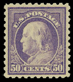 Value of US Stamps Scott Catalogue 477: 1917 50c Franklin Perf 10. Daniel Kelleher Auctions, May 2015, Sale 669, Lot 3063