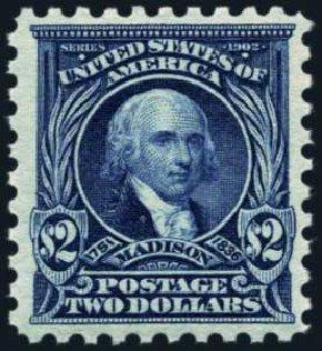 Values of US Stamp Scott Cat. # 479: US$2.00 1917 Madison Perf 10. Harmer-Schau Auction Galleries, Oct 2013, Sale 99, Lot 187