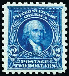 US Stamps Values Scott #479 - US$2.00 1917 Madison Perf 10. Schuyler J. Rumsey Philatelic Auctions, Apr 2015, Sale 60, Lot 2409