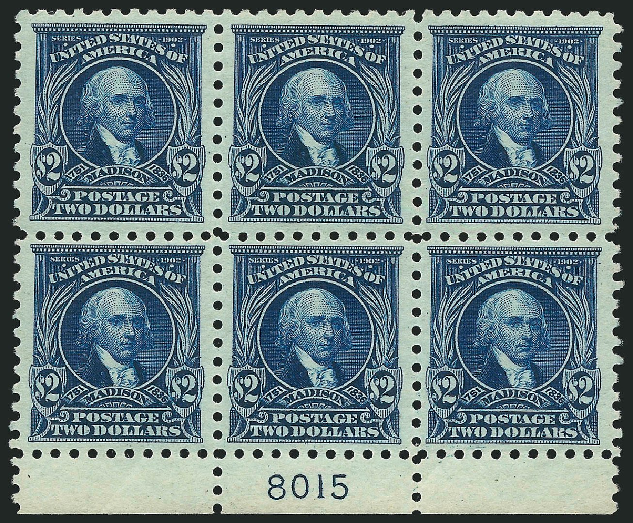 US Stamps Values Scott #479 - 1917 US$2.00 Madison Perf 10. Robert Siegel Auction Galleries, Feb 2015, Sale 1093, Lot 411