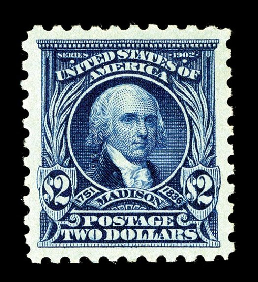 US Stamp Value Scott Cat. 479: 1917 US$2.00 Madison Perf 10. Spink Shreves Galleries, May 2014, Sale 148, Lot 324