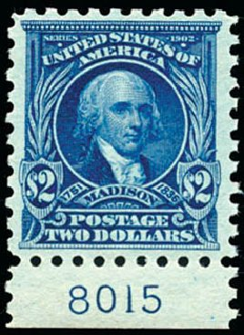 Values of US Stamps Scott Cat. #479: US$2.00 1917 Madison Perf 10. Schuyler J. Rumsey Philatelic Auctions, Apr 2015, Sale 60, Lot 2833