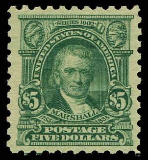 Cost of US Stamp Scott 480: US$5.00 1917 Marshall Perf 10. Daniel Kelleher Auctions, May 2015, Sale 669, Lot 3074