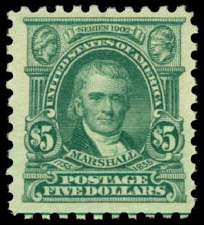 Cost of US Stamp Scott Catalog # 480 - 1917 US$5.00 Marshall Perf 10. Daniel Kelleher Auctions, May 2015, Sale 669, Lot 3075