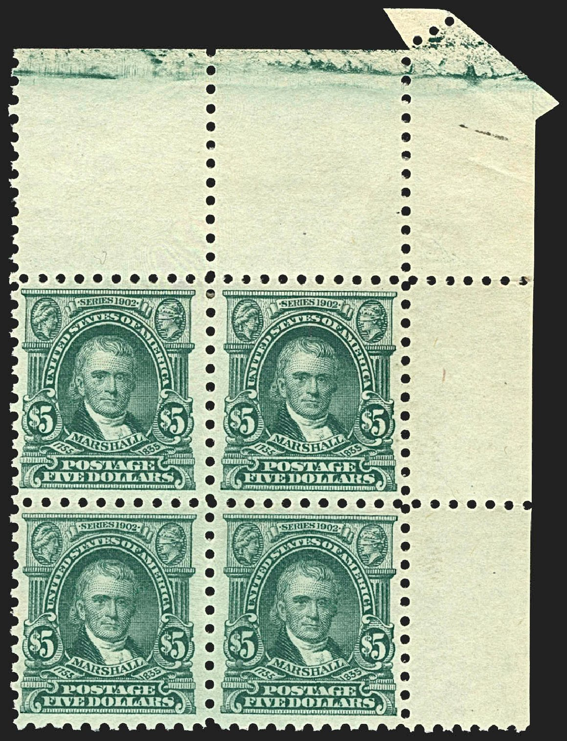 US Stamp Price Scott Catalogue #480: 1917 US$5.00 Marshall Perf 10. Robert Siegel Auction Galleries, Jul 2015, Sale 1107, Lot 492
