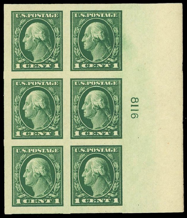 Cost of US Stamp Scott 481: 1916 1c Washington Imperf. Daniel Kelleher Auctions, Aug 2012, Sale 631, Lot 1237